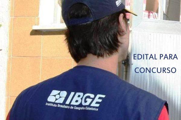 IBGE divulga edital para concurso com 7,5 mil vagas