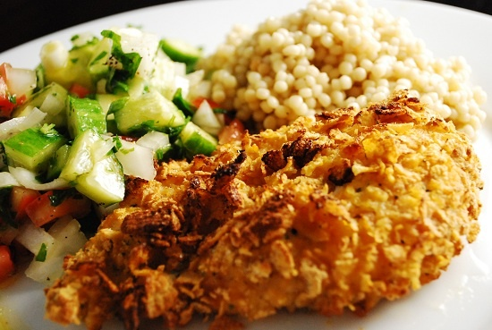 Baked Ranch Chicken: Sour Cream, Ranch Chicken Recipes, Weights Watchers, Watchers Recipes, Baking Ranch Chicken, Fried Chicken, Baked Ranch Chicken, Chicken Breast, Corn Flakes
