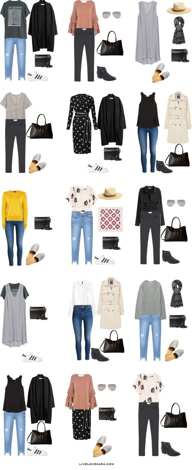 Packing List: One Month in the UK and France in Spring 2017 - What to Wear: Outfit Options 1. livelovesara