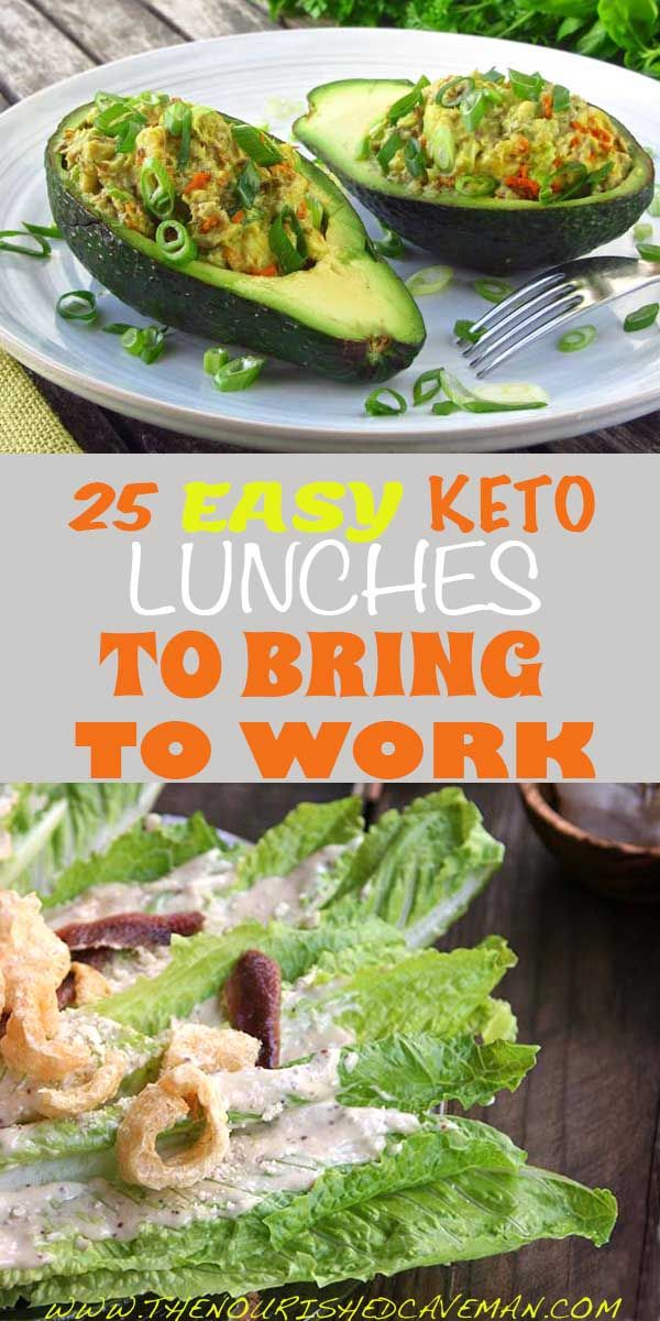25 Easy Keto Lunches To Bring To Work By The Nourished Caveman (low-carb, keto, paleo)