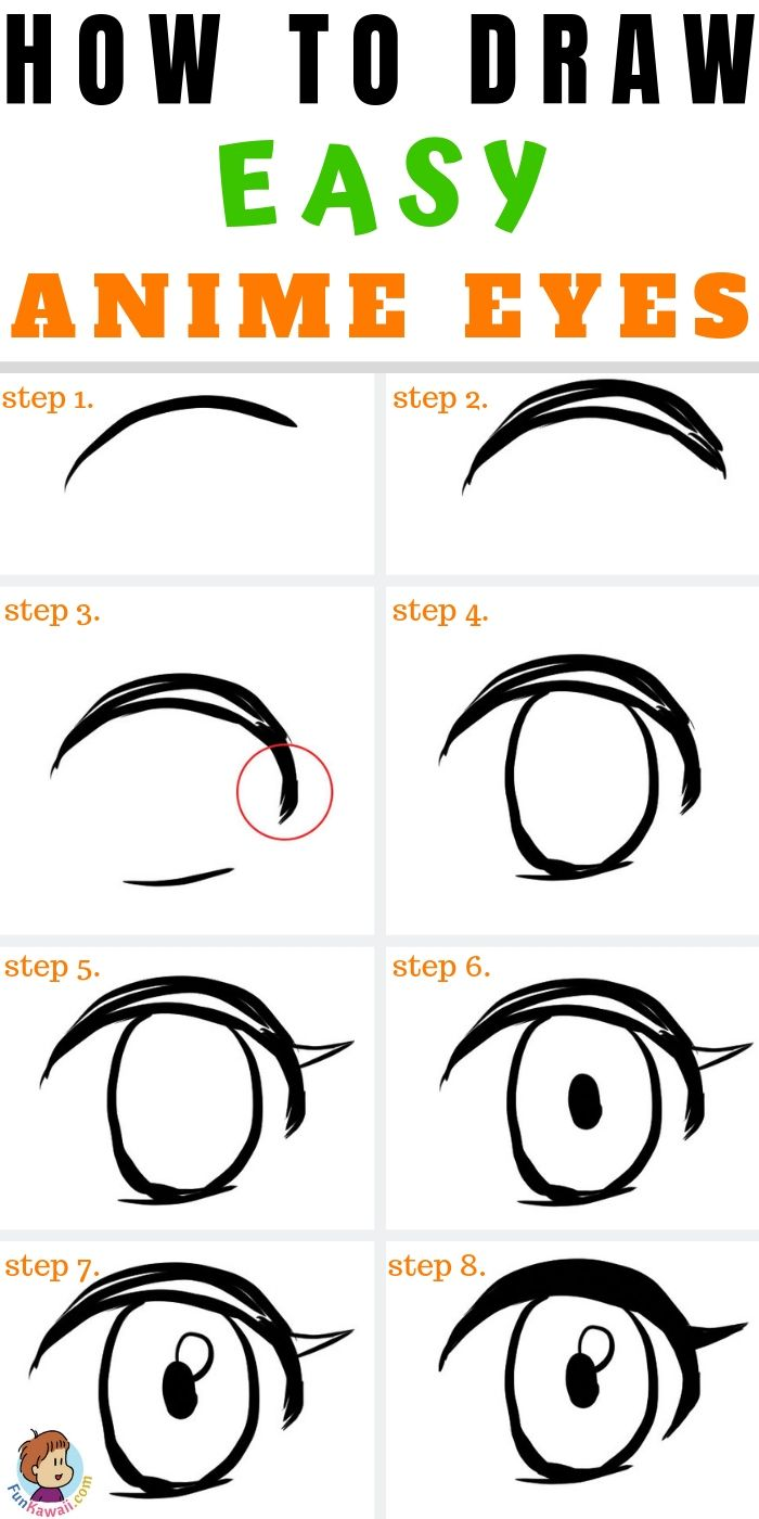 How To Draw Anime Girls Eyes Free Practice Sheets Funkawaii Com Easy Anime Eyes How To Draw Anime Eyes Anime Eye Drawing