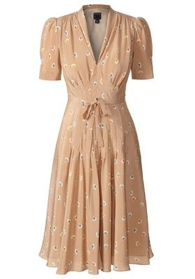I love tea dresses. Fitted up top, flowy on the bottom, and the perfect length for work or weekends. I also love the vintage vibe of this dress.