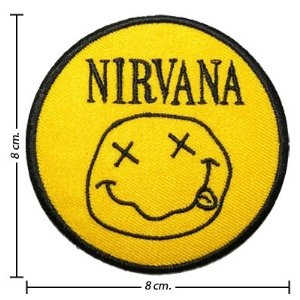 Nirvana Music Band Logo II Embroidered Iron On Patches Free Shipping From Thailand