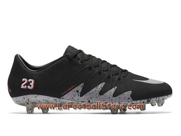 Nike Hypervenom II Phinish FG NJR x Jordan Chaussure de football à crampons pour terrain sec pour Homme Noir/Grey