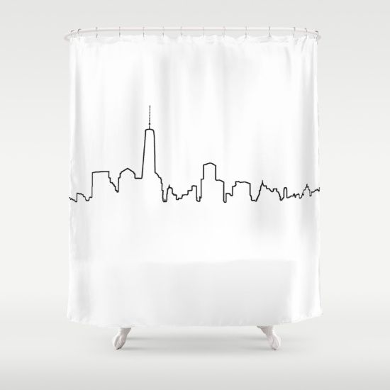 New York Life Line Shower Curtain