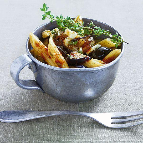 Rezept für Auberginen-Nudel-Salat | Küchengötter