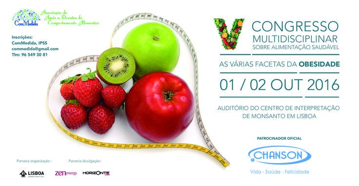 Não perca o Congresso Multidisciplinar de Alimentação Saudável, no Auditório do Centro de Interpretação de Monsanto em Lisboa, de 1 e 2 de outubro