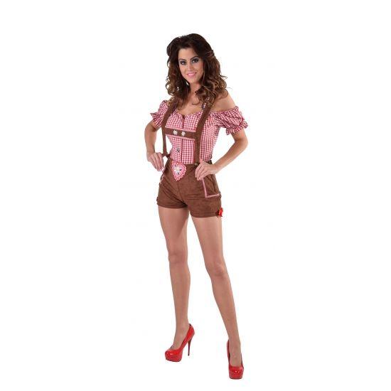 Oktoberfest bruine lederhose voor dames. Carnavalskleding 2016 #carnaval