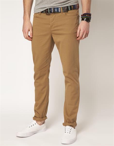 Купить коричневые мужские джинсы