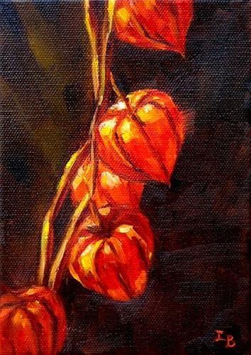 "Daily Paintworks - ""Chinese Lantern"" - Original Fine Art for Sale - © Irina Beskina"