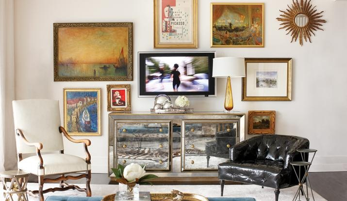 TV Gallery Walls: Wall Art, Decor, Living Rooms, Tv Walls, Galleries Wall, Atlanta Home, Tvs, Families Rooms, Art Wall