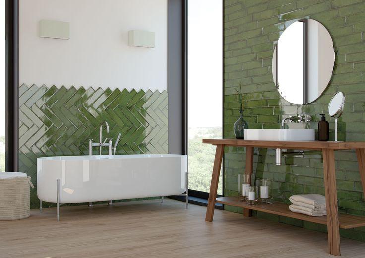 "Alchimia Olive 3""x12"" wall tile"