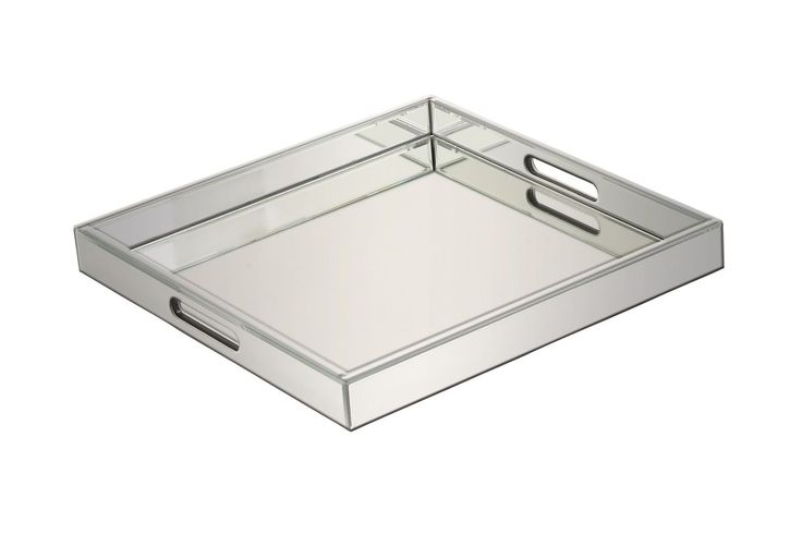 """Classic Modern 2"""" Mirrored Serving Tray by UMA from Gardner-White Furniture"""