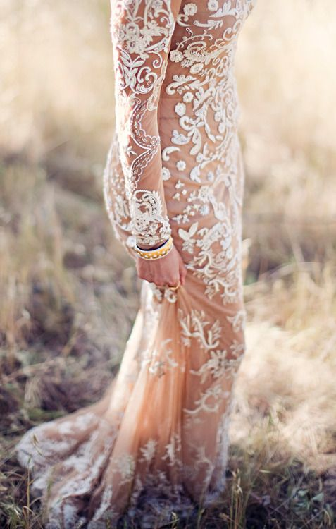 Bohemian Lace wedding gown