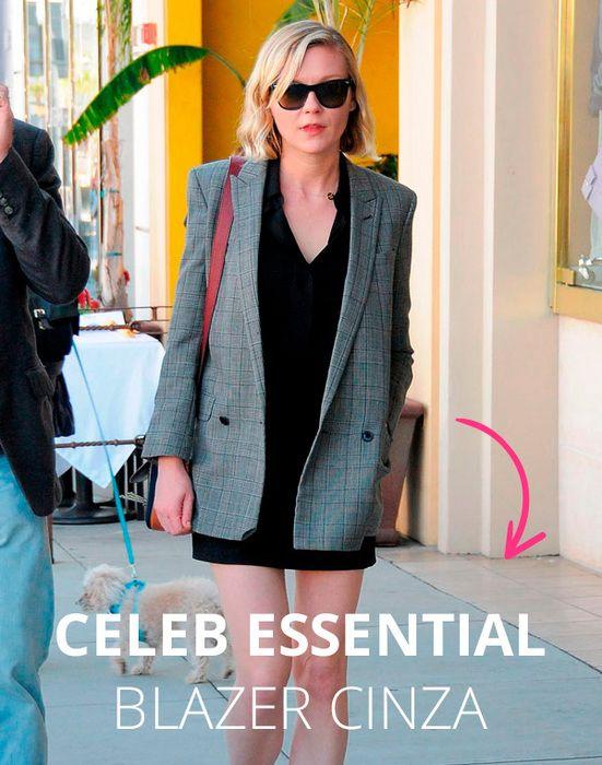 Celeb essential: blazer cinza.