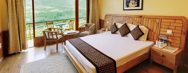 View from Holiday #Cottages & Resort #Manali