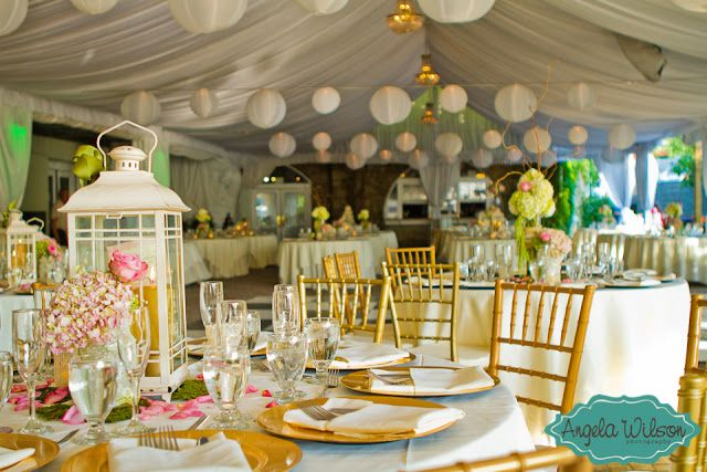 Tablescapes with lanterns pink and green tablescape