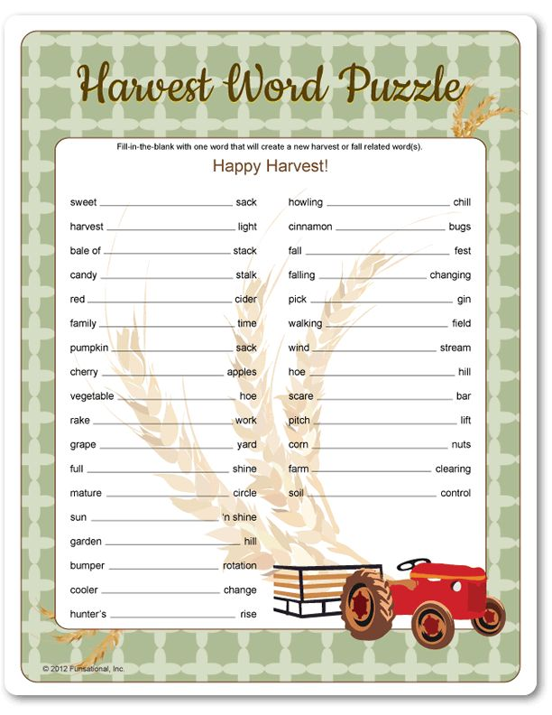 HARVEST WORD SEARCH