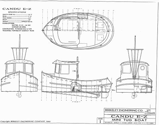 This is the plans that were followed for the Toot Toot. Candu E-Z, Mini Tugboat Plans, Tugboats ...