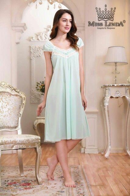 New MISS LINDA Summer Collection  -   Silk Elegance Short Nightgown  -  #follow #like #cute #Silk #babydoll #Sleepwear #nightgowns #MISSLINDA