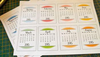 Tear off calendars to print