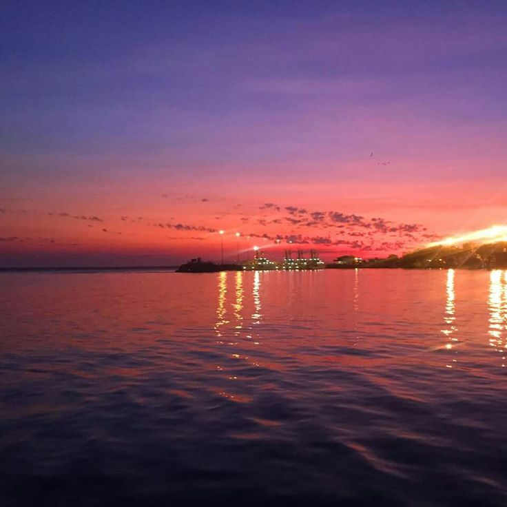 Darwin Harbour. Sunset Afterglow.