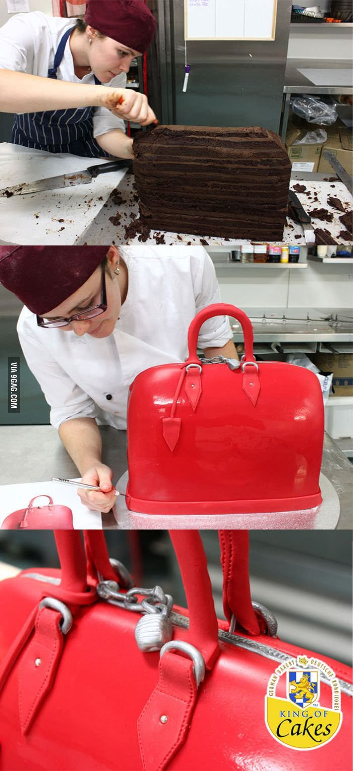 I need a new bag in this color. It would also need to be hollow & not edible.         Awesome Designer Handbag Cake!