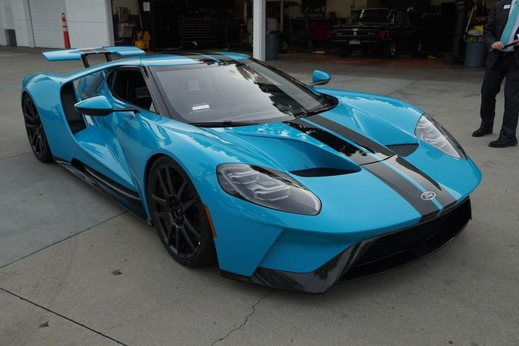 2018 Ford Gt Miami Blue Pretty Sure This Is Jordan Maron S Ford Gt Super Sport Cars Sports Car