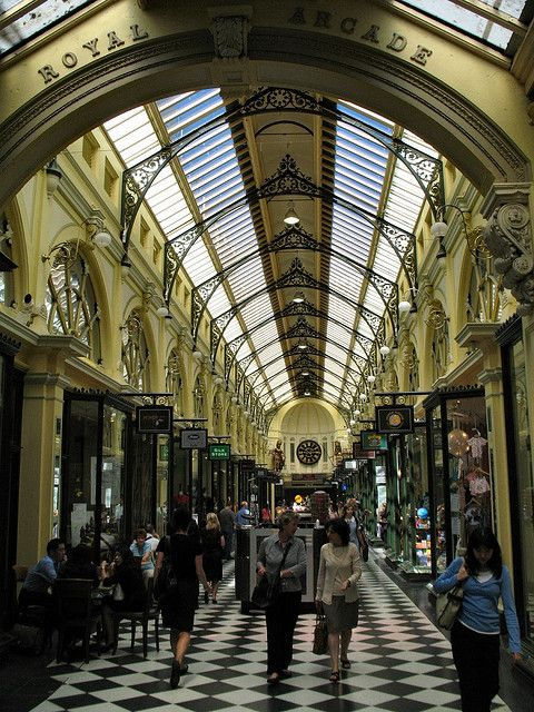 Royal Arcade - Melbourne  Australia. I may have played hooky a few times and visited here.