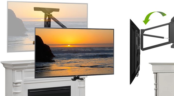 Tranquil Mount TV Brackets uses gas spring technology for easy pull-down…