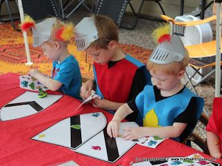 Something for the boys- children can choose to decorate a knights' shield or…