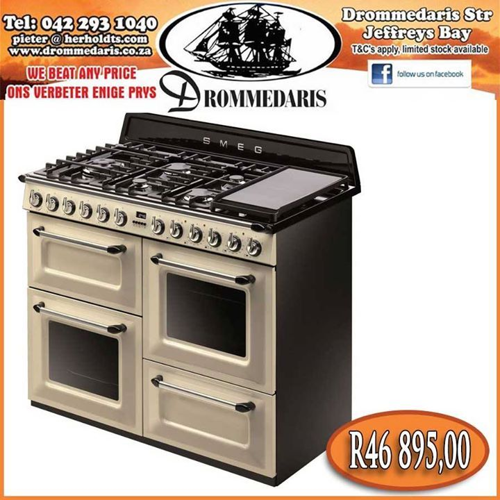"The Smeg 110cm ""Victoria"" Traditional Dual fuel 4 cavity Cooker with Gas hob has a AA energy rating. This oven has has features and capacity to make your cooking experience a good one. Click here to read more, order and to have yours delivered for free, http://apost.link/5u6. #appliances #cooking #drommedaris"