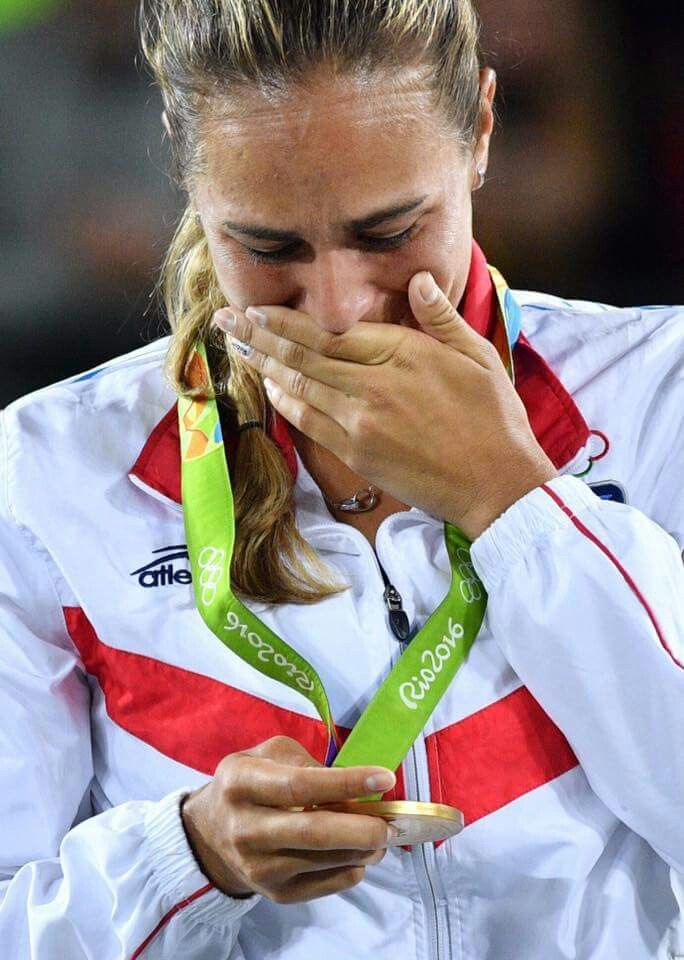 Monica Puig is a Puerto Rican professional tennis player who won the first Olympic Gold medal ever for our country in the Olympics at Rio 2016! We're so proud of her!