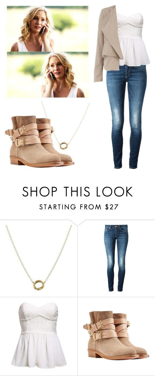 """Caroline Forbes - tvd / the vampire diaries"" by shadyannon ❤ liked on Polyvore featuring Peggy Li, Dondup, Rupert Sanderson and Dorothy Perkins"