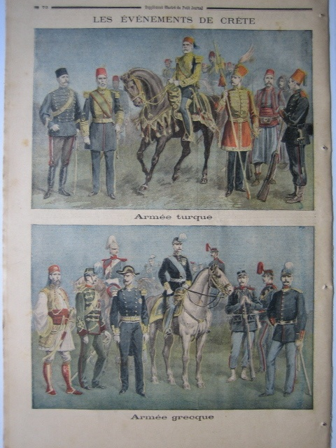 OLD PRINT ENGRAVING 1897 TURKEY TURQUIE GREECE GRECE CRETE WAR ARMY | eBay