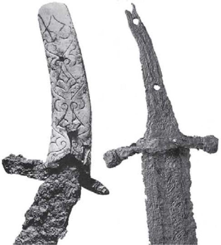 Сабля Х в, обнаруженная в Трновце над Вагом, район Таланта, Словакия. Хранится в…