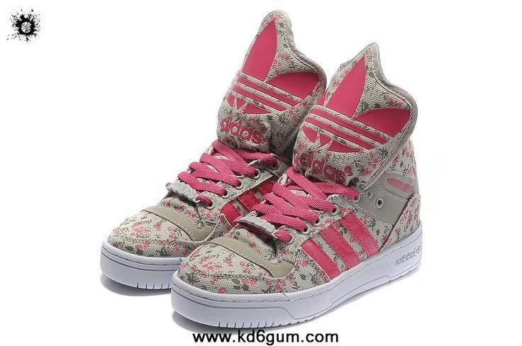Latest Girl Adidas X Jeremy Scott Big Tongue Shoes Grey Pink | Nike KD 6 GUM | Pinterest | Jeremy Scott, L\u0026#39;wren Scott and Adidas