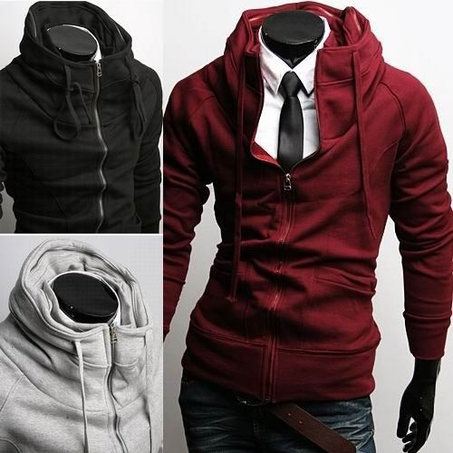 Men's Style: a hoodie w/ a dress-shirt and tie. Gorgeous.