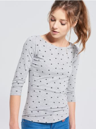 SINSAY - Bluzka z nadrukiem <br><br>Wzrost modelki: 179 cm<br>Rozmiar produktu: S