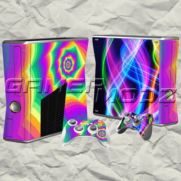Kaleidoscope XBOX 360 Skin Set - Console with 2 Controllers