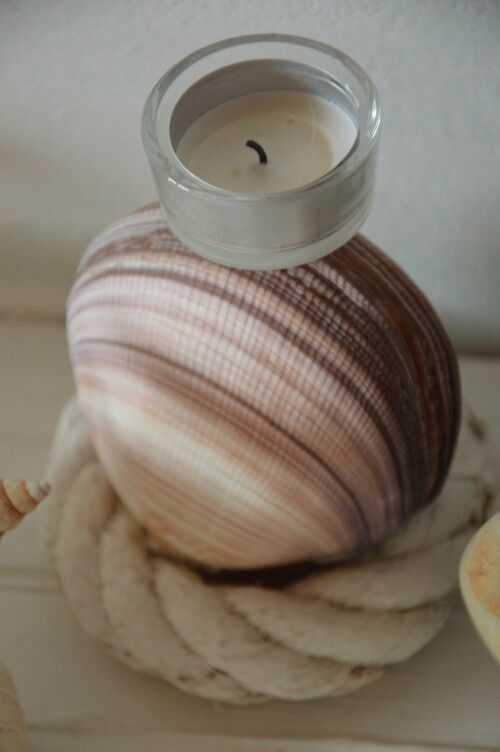 Candle with shell