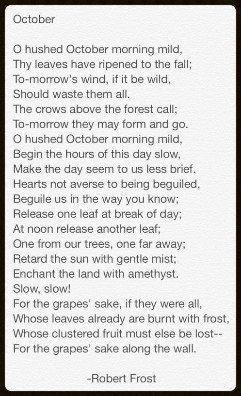 Poem by Robert Frost