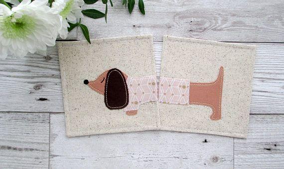 Dachshund Gift Dog Drinks Coasters Sausage Dog Coasters  #dachshund #sausagedogs #handmade #coasters #etsy