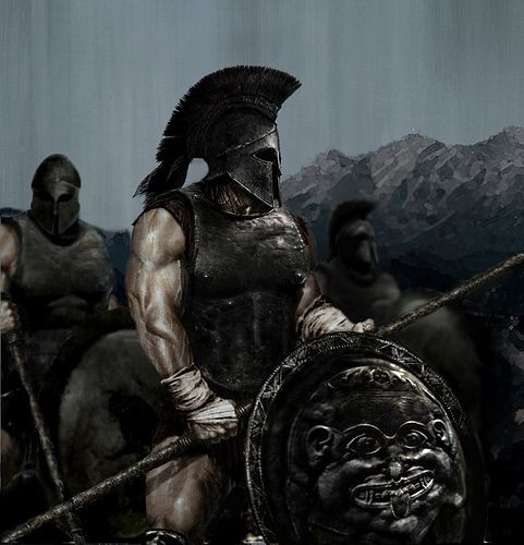 | spartan soldiers.. the toughest of all the warriors of Greece.. |   | spartan child we're tied to together, and then tied to a tree and left to pull it down.. usually for several days with no food or water and certainly no tools |