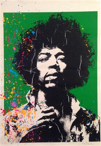 Jimi Hendrix by Mr. Brainwash on artnet Auctions