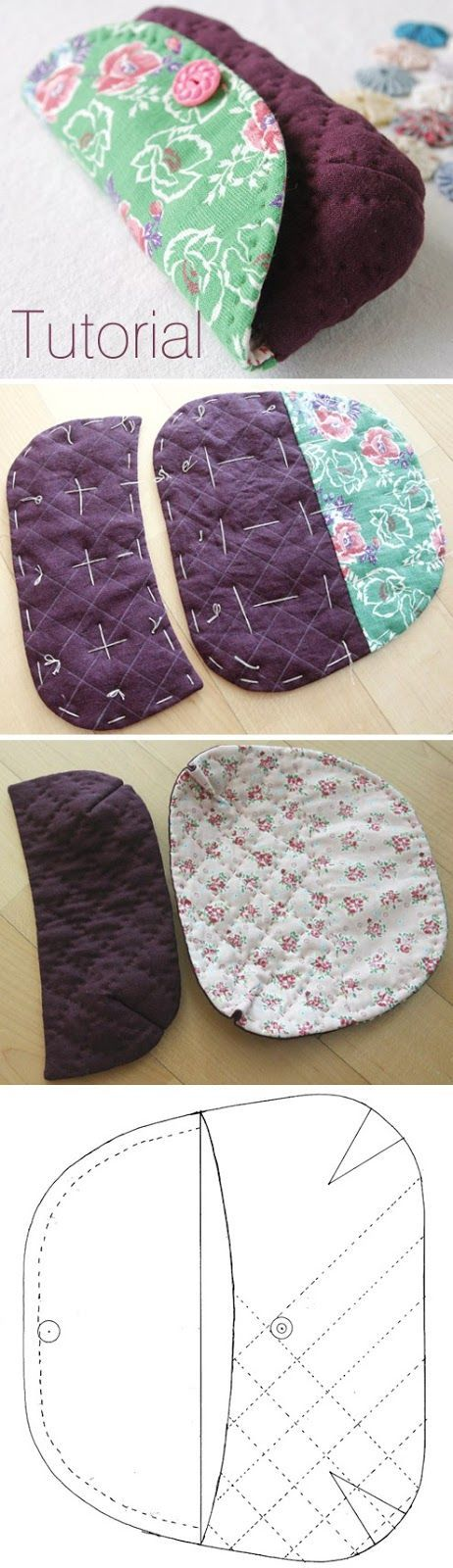 Glasses Case DIY Tutorial in Pictures. www.handmadiya.co...
