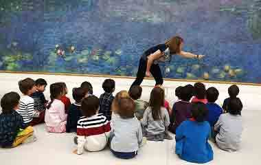 Visite du musée de l'Orangerie (groupes scolaires ou familles) avec Paris d'enfants- Sortie scolaire ou famille musée de l'Orangerie Paris
