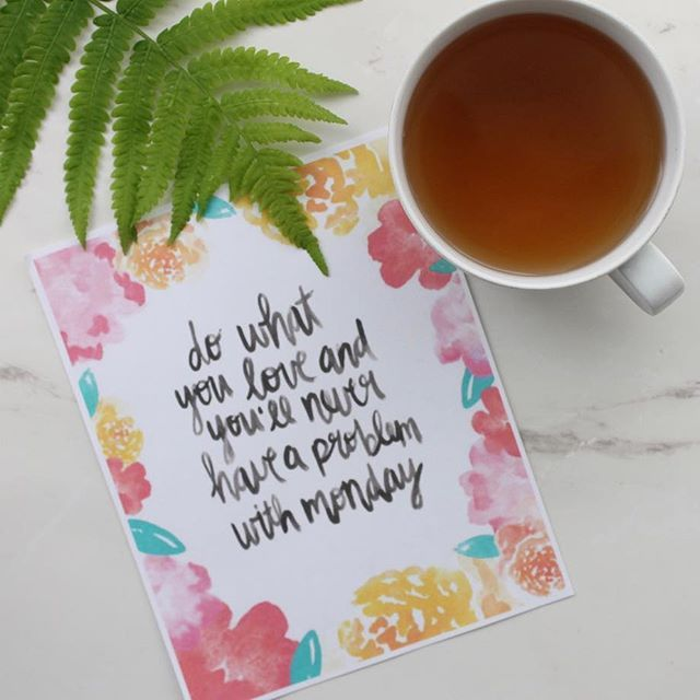"""""""Do what you love & you'll never have a problem with Monday"""" Follow your dreams, live your passion and be grateful for everyday! Happy Monday everyone! ☕️ #mondaymotivation #mondayvibes #mondaymood #motivationalmonday #motivationalquotes #upliftingquotes #quotes #liveyourpassion #followyourdreams #motivation"""
