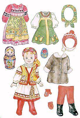 Anastasia from Russia komt van prikbord met ongelofelijk veel papieren aankleedpopppen