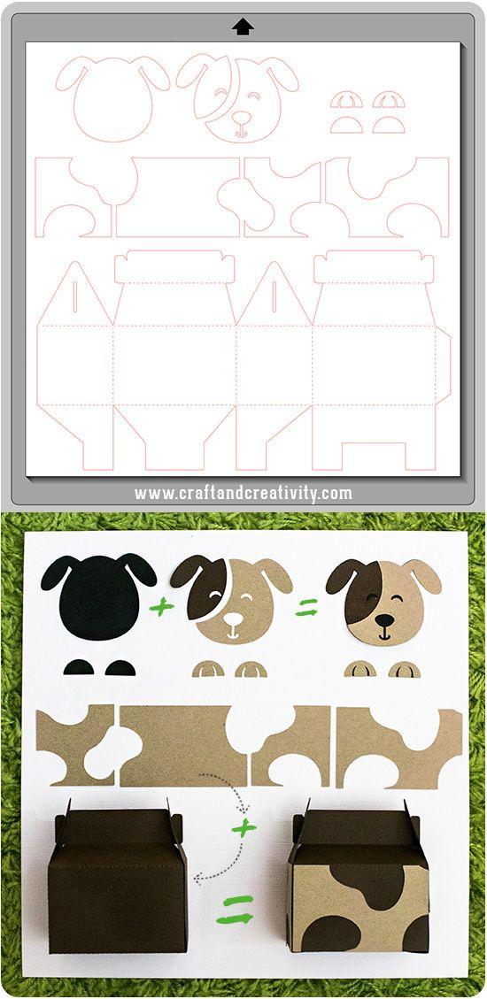 Kalasaskar med djurmotiv – Animal party boxes | Craft & Creativity – Pyssel & DIY
